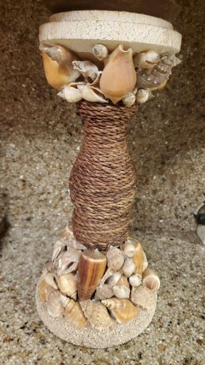 Sea Shell Candle Holder Large 13x5 for Sale in Beaverton, OR