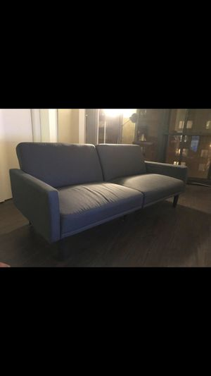 Sofa Bed Linen Futon with Arms - Gray - Room Essentials™️ for Sale in Chicago, IL
