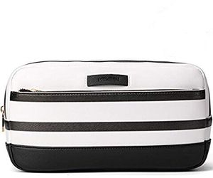 Leather Toiletry Bag, Mens Toiletry Bag Travel Case - Best for Shaving Dopp Kits, Cosmetics, Makeup and Bathroom - Black and white stripes for Sale in Philadelphia, PA