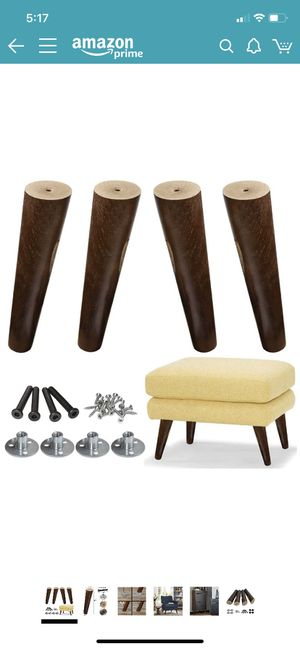 AORYVIC wood sofa legs 8 inch, 2 sets of 4 available NEW for Sale in Alexandria, VA