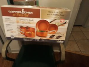 Copper chef pans for Sale in Moore, OK