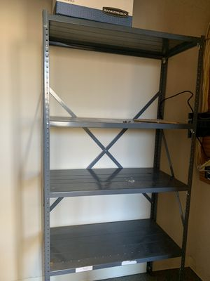 Very Functional Metal Shelf. Comes with five shelves. for Sale in Greenwich, CT