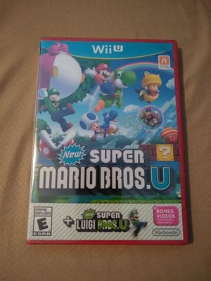 New Super Mario Bros U + New Super Luigi U Nintendo Wii U for Sale in La Jolla, CA