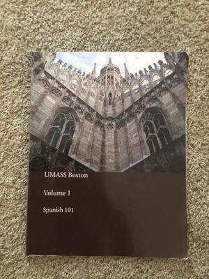 UMass Boston spanish 101 volume 1 for Sale in Melrose, MA