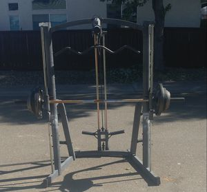 Marcy Platinum Smith Machine, with weight and bench for Sale in Elk Grove, CA