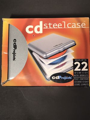 CD Projects 22 Disc Holder Steel Case (New) Silver for Sale in Hemet, CA