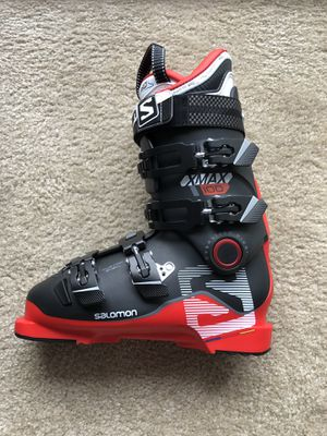 Salomon X Max 100 Ski Boots MEN 25.5 Red/Black for Sale in Germantown, MD