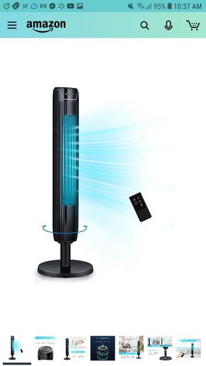 Tower Fan, 42 Inch Portable Oscillating Quiet Cooling Fan with Remote Controlled, 3 Modes and Speed Settings, Built-in Timer LED Display S for Sale in Glendale, AZ