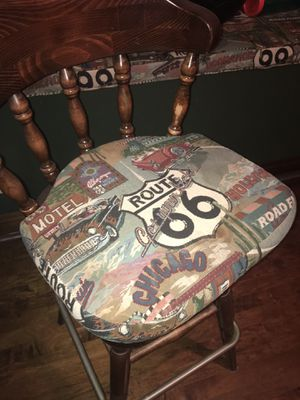 Two Route 66 themed barstool cushions for Sale in Chino Hills, CA