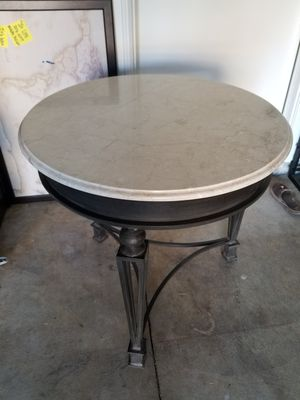 Steel iron and marble table for Sale in West Covina, CA