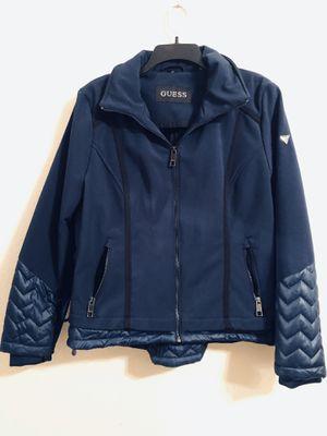 Guess Women's Navy Blue Jacket Size L for Sale in Turlock, CA