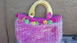 Straw Wood handle handbag for Sale in West Palm Beach, FL