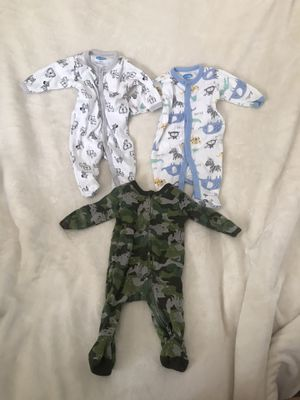 Footed baby boy onesies 3months for Sale in Fresno, CA