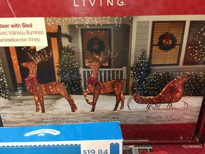 Lighted deer sled christmas yard decoration original price 149 for Sale in West Palm Beach, FL