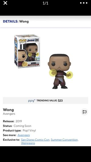 Funko pop Wong Avengers Exclusive for Sale in Miami, FL