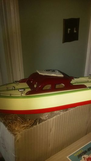 Vintage, (50's) still New In Box, ITO (battery powered) WOOD MOTOR BOAT for Sale in St. Louis, MO