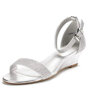 Silver Glitter wedge sandal for Sale in Denver, CO