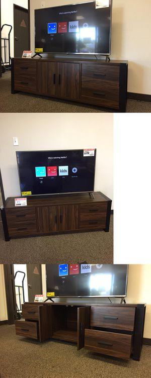 TV Stand for TVs up to 70 Inch, Black & Dark Walnut, SKU # 161483 for Sale in Santa Fe Springs, CA