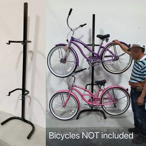 New in box 2 bicycle beach cruiser mountain bike stand carrier rack bikes are not included for Sale in West Covina, CA