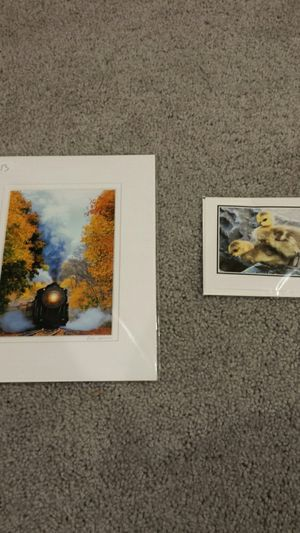 Train picture and Duck photo card for Sale in Millersville, MD