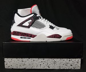 "New Nike Air Jordan 4 IV Retro ""Pale Citron"" White/Black-Bright Crimson Size 12 for Sale in Fresno, CA"