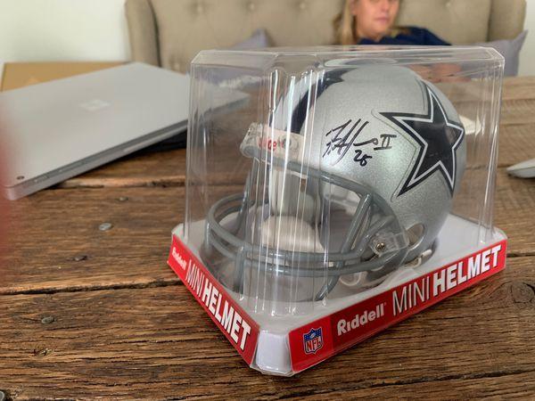 Signed Dallas cowboys mini helmet
