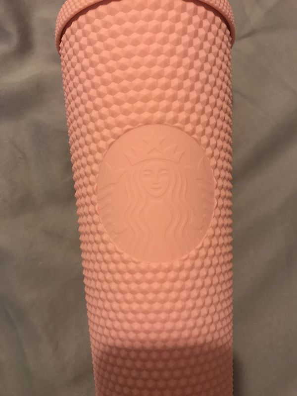 Starbucks matte pink studded cold cup tumblr spring release