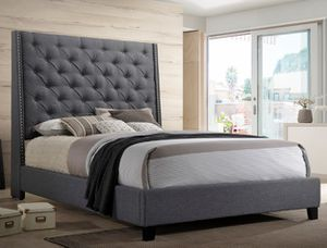 Brand new linen CA king or standard king bed frame for Sale in San Diego, CA