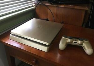 PS4 Slim 1Tb Gold Limited Edition Console With Gold Controller for Sale in Washington, DC
