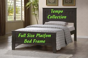 NEW, Full Wood Bed Frame with Slats, Gray, SKU# 7581-GR-FULL for Sale in Westminster, CA