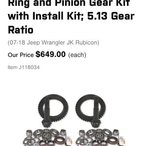Yukon Gear For Jeep 2007 -2018 Rubicon for Sale in Highland, CA
