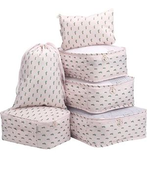 Foldable packing cubes set 6pack for travel and organizing- new for Sale in Naperville, IL