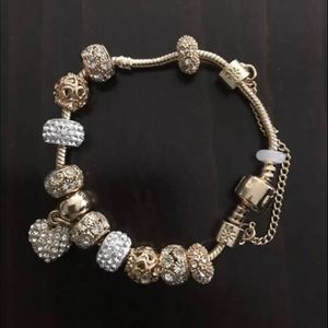 18K Real Gold Plated Charm Pandora Bracelet for Sale in Los Angeles, CA