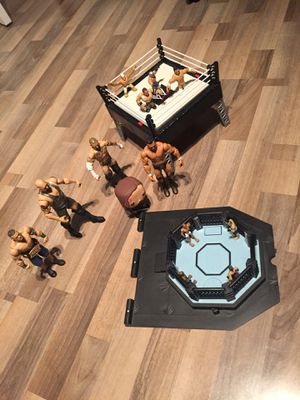 Wwe set with some figures and ufc ring with some figures for Sale for sale  Old Bridge, NJ