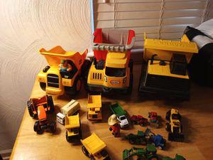 Little tikes Tonka cat John Deere has and Hot Wheels all trucks farm equipment diecast or plastic for Sale in Portsmouth, VA