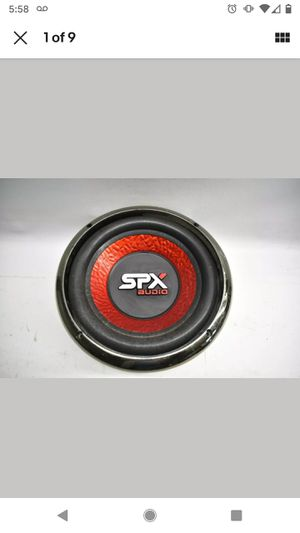 """Nice Used 4 Ohm SDX Audio 1000 Watts 10"""" Car Subwoofer Red Black & Ring PK06210 for Sale in Brockport, NY"""