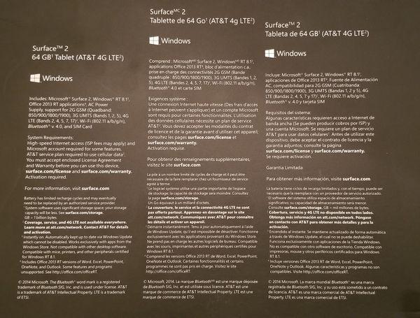 Microsoft Surface 2 - 64 Gig MINT