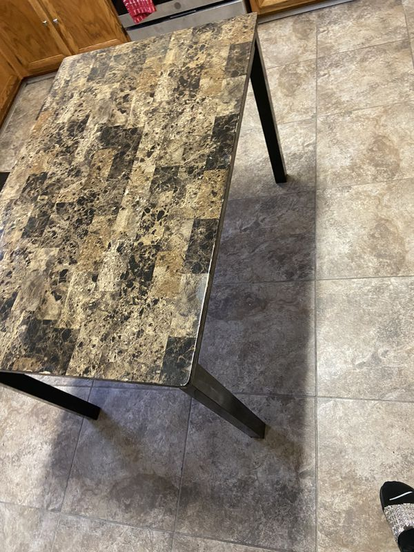 Kitchen table marble top small
