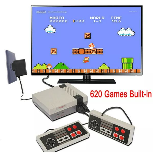 Mini Game Console With 620 Classic Games Already In To Play Plug-in & Play