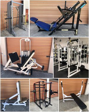 Huge Lot of Gym/ Fitness Equipment: Leg Press Olympic Weight Plates, Benches Squat Racks Dumbbells, Home Gym for Sale in Davenport, FL