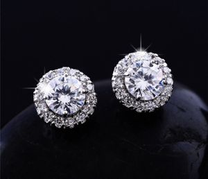 18K White Gold Round Cut White Topaz 0.25CT Diamond Stud Earrings Wedding Party for Sale in Moreno Valley, CA