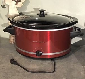 Hamilton Beach 8-Quart Oval Slow Cooker, Red Used: Like New for Sale in Santee, CA