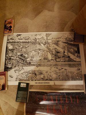 Vtg 1981 grateful dead poster 100 dead songs *rare for Sale in Mukilteo, WA