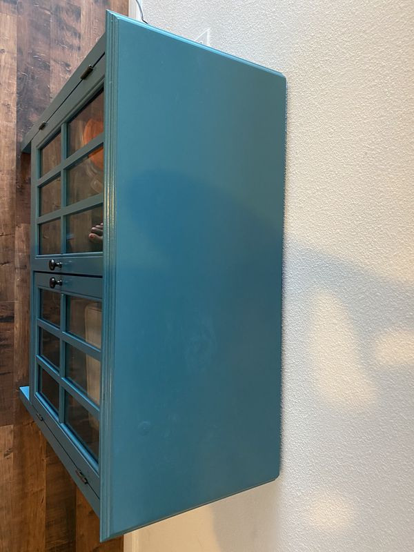 Two door accent cabinet from Target - Teal Blue