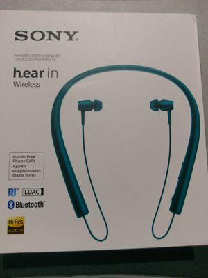 Sony h.ear in ear Neckband Bluetooth Wireless Headphones Headset Hi-Res Audio MDR-EX750BT for Sale in Houston, TX