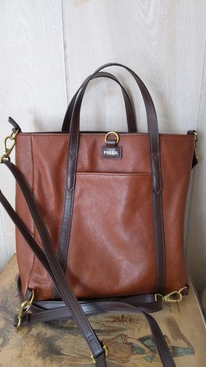 Fossil leather tote bag for Sale in Princeton, NJ