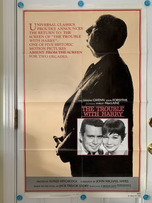Alfred Hitchcock's The Trouble With Harry One Sheet Movie Poster for Sale in Northbrook, IL