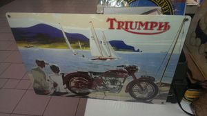 Triumph motorcycle aluminum metal sign for Sale in Vancouver, WA