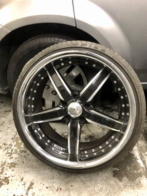 Custom 20 inch rims and brand new tires for Sale in San Marcos, CA