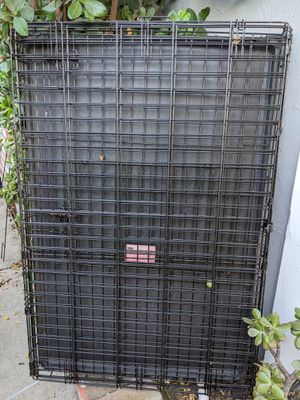 Large folding black wire pet dog crate for Sale in Mountain View, CA